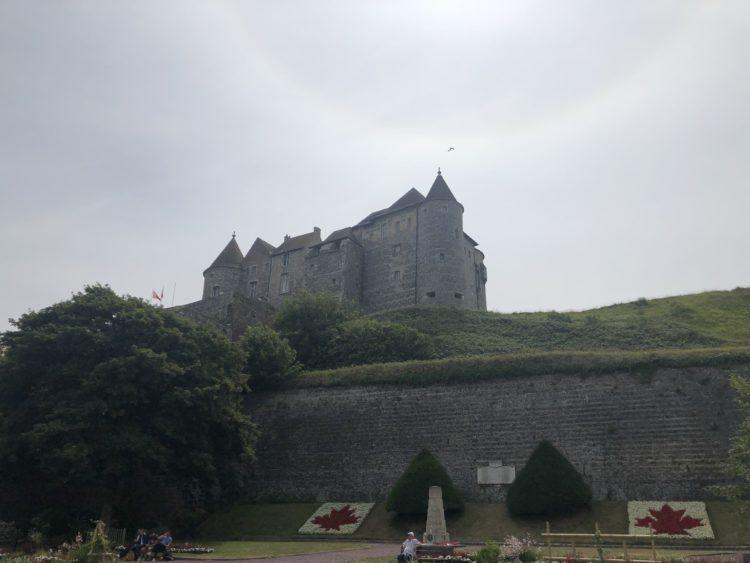vue chateau dieppe
