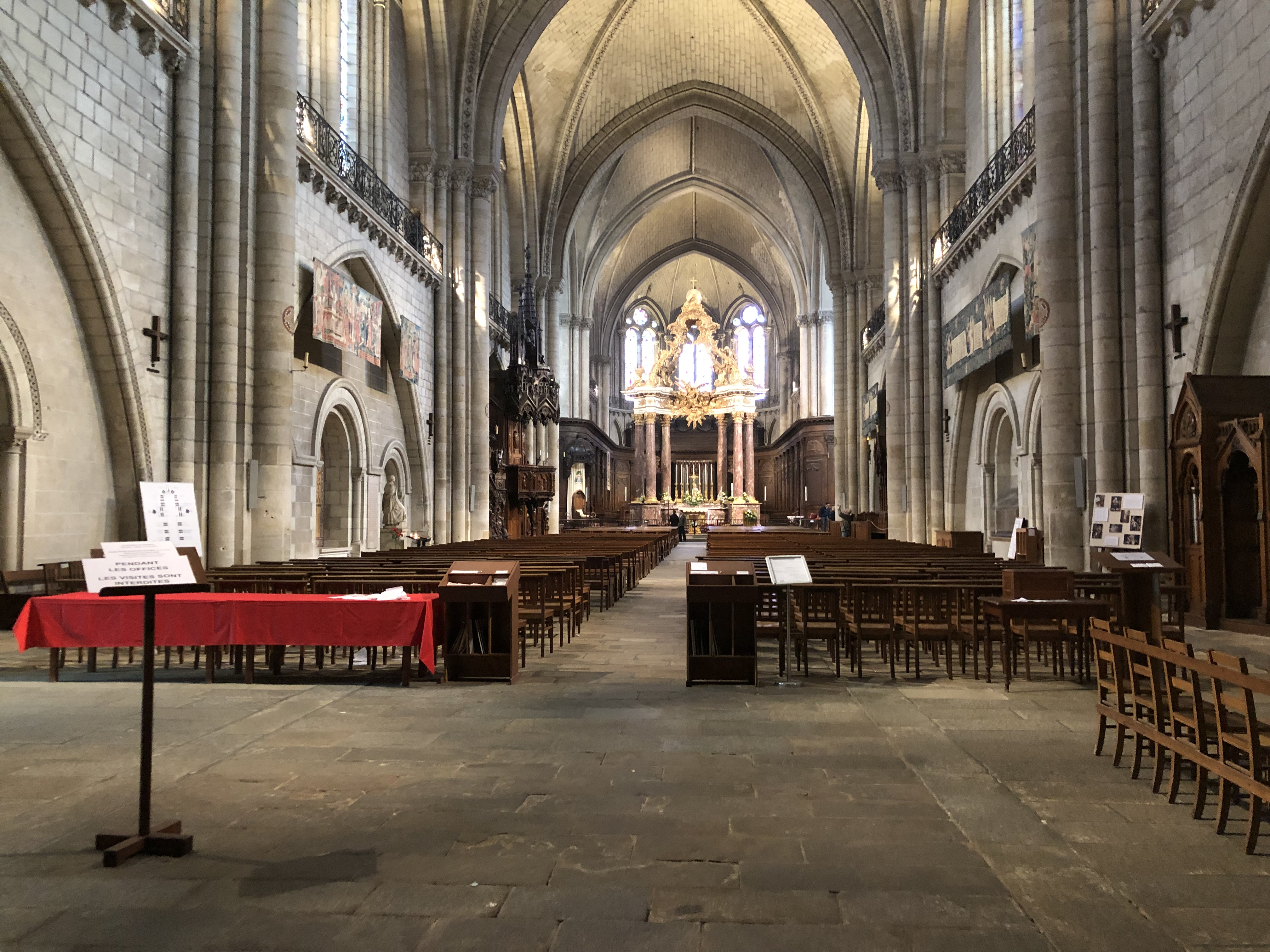 nef cathédrale d'angers